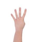 四个手指 现有量人s 库存照片