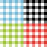 四个方格的格子呢无缝的样式设计 皇族释放例证