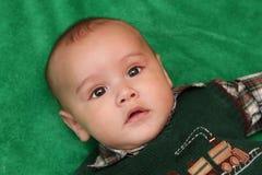 四个月的男婴纵向  免版税图库摄影
