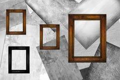 四个木制框架 免版税库存图片