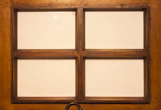 四个木制框架 库存照片
