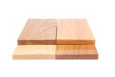四个末端板(金合欢、橡木、榆木,石灰) 免版税库存图片