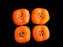 四个柿子 库存图片
