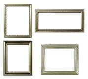 四个框架银色白色 免版税库存照片