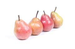 四个梨 免版税库存照片