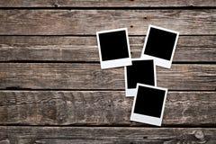 四个空白的立即照片框架 库存照片