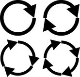 四个箭头象集合的例证 免版税库存图片