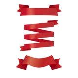四个红色丝带样式 免版税库存照片