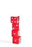 四个红色彀子堆积与文本的空间 免版税库存照片