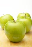 四个苹果 免版税图库摄影