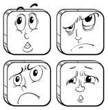 四个表情 皇族释放例证