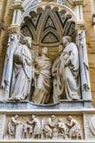 四个被加冠的圣徒受难者雕象Orsanmichele教会佛罗伦萨 库存照片