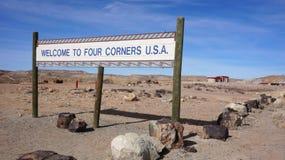四个角落,美国 免版税库存图片