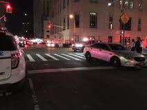 四个警报火后果在24默里街16的 库存照片