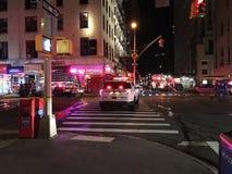 四个警报火后果在24默里街15的 库存图片