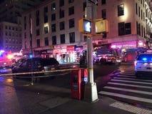 四个警报火后果在24默里街14的 免版税图库摄影