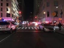 四个警报火后果在24默里街13的 库存照片