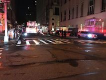四个警报火后果在24默里街12的 免版税库存照片