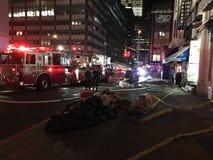 四个警报火后果在24默里街11的 免版税库存照片