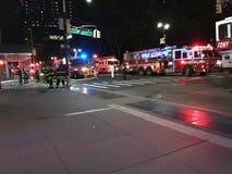 四个警报火后果在24默里街8的 库存照片