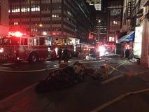 四个警报火后果在24默里街2的 免版税图库摄影