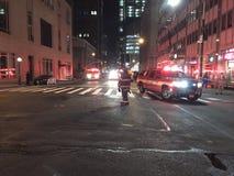 四个警报火后果在24默里街3的 免版税库存照片