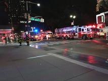 四个警报火后果在24默里街4的 免版税库存图片