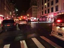 四个警报火后果在24默里街6的 图库摄影