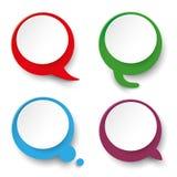 四个讲话泡影标签 库存图片