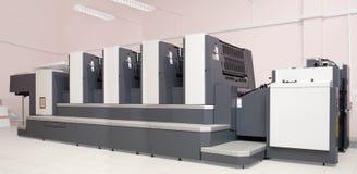 四个设备抵销被打印的部分 免版税库存图片