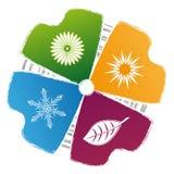 四个颜色季节 免版税库存照片