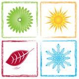 四个颜色季节 图库摄影