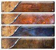 四个水平的Grunge标头 免版税库存照片