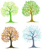 四个结构树 免版税库存图片