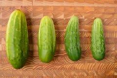四个黄瓜 库存照片