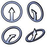 四个3d蓝色箭头 免版税图库摄影