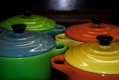 四五颜六色和充满活力的碗 图库摄影