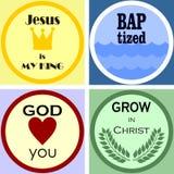 四五颜六色的基督徒商标 库存图片