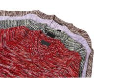 四件毛线衣温暖 免版税库存照片