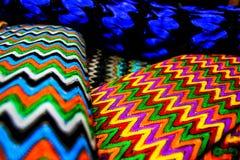 四件纺织品帆布 免版税库存图片