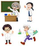 四位化学家 免版税库存照片