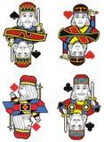 四位国王没有卡片 免版税库存照片