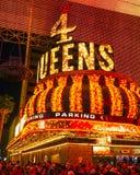 四位女王旅馆和赌博娱乐场在拉斯维加斯街市-拉斯维加斯-内华达- 2017年4月23日 库存图片