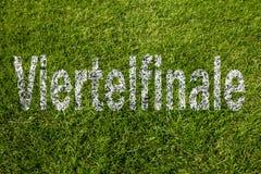 四分之一决赛用德语 免版税库存照片