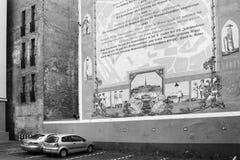 四分之一Konventa教育机构的历史在里加市 库存图片