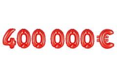 四十万欧元,红颜色 库存照片