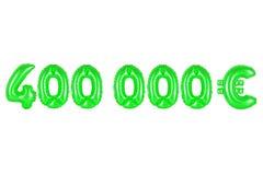 四十万欧元,绿色 库存图片