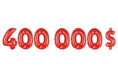 四十万美元,红颜色 图库摄影