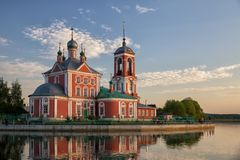 四十个受难者教会,佩列斯拉夫尔-扎列斯基 库存照片