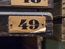 四十九个标记 免版税库存照片
